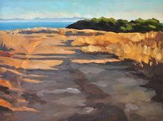 Bluffs Path - 8x10, painting by artist Sharon Schock