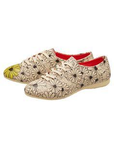 Halbschuhe Flowers von Dogo-Shoes in bunt | Deerberg