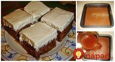 Mokrý koláčik na lyžičky – úžasný: Taký jednoduchý a výborný, že ho máme na stole každý druhý deň! Tiramisu, Cheesecake, Ethnic Recipes, Food, Basket, Cakes, Meal, Cheesecakes, Essen