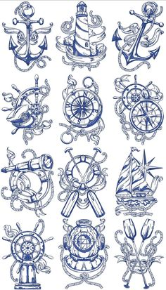 Trendy Tattoo Sleeve Designs Sketches Drawings Compass tattoo old school tattoo arm tattoo tattoo tattoos tattoo antebrazo arm sleeve tattoo Marine Tattoos, Navy Tattoos, Sailor Tattoos, Trendy Tattoos, Navy Anchor Tattoos, Ankle Tattoos, Small Tattoos, Kunst Tattoos, Body Art Tattoos