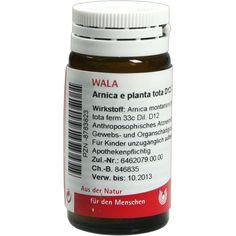 ARNICA E Planta tota D 12 Globuli:   Packungsinhalt: 20 g Globuli PZN: 08783823 Hersteller: WALA Heilmittel GmbH Preis: 5,99 EUR inkl. 19…