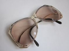 e67c6132f9 Vintage 70s/80s Eyeglasses : LUXOTTICA 1356 BLUEROSE oversized butterfly  glasses frames