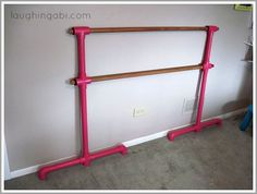 My 13-year-old is a dancer so we decided to build a ballet barre for her bedroom. The cheap, easy solution? PVC pipe.