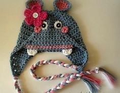 Hippo Crochet Hat for Babies and Children Photo by sweetsfcwife97, $16.99