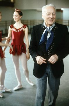 George Balanchine (photo by Arthur Elgort) - I met Balanchine once and this is exactly how he looked - A.L.W.