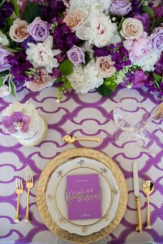 Ultra Violet Tablescape