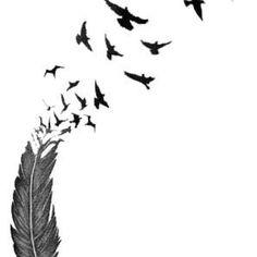 Feather Bird Tatoo little bit of everything Feather Tattoo Meaning, Feather With Birds Tattoo, Bird Tattoo Wrist, Feather Tattoos, Tattoos With Meaning, Body Art Tattoos, New Tattoos, Feather Art, Tattoos Of Birds
