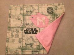 Star Wars quilt for a baby girl.