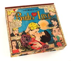 Vintage Sixties Brides in Love Comic Book Cigar Box by Paper Vs. Glue