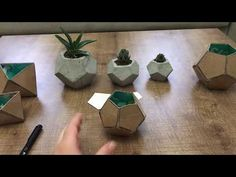 BETON SAKSI YAPIMI (BEŞGEN) - YouTube Cement Art, Concrete Crafts, Concrete Art, Concrete Projects, Grape Plant, Diy Concrete Planters, Tree Plan, Beton Diy, Handmade Home