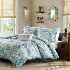 queen bedroom sets on saleQueen Bedroom Sets For KidsGive Your Bedroom a Romantic Makeover With Some Exotic Bedroom IdeasAre you losing that. Cheap Bedding Sets, Queen Bedding Sets, Comforter Sets, Floral Comforter, Queen Bedroom, Queen Beds, Bedroom Colors, Bedroom Decor, Bedroom Furniture