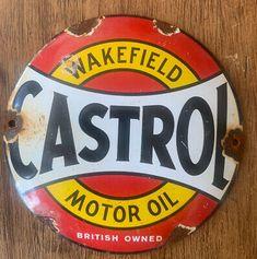 Cintage Collectable Castrol Motor Oil Genuine Enamel Sign Condition is Used. Enamel, Signs, Metal, Vitreous Enamel, Shop Signs, Enamels, Metals, Tooth Enamel, Glaze