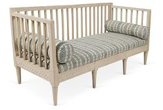 One Kings Lane - Furniture & Lighting - Gustavian Sofa Bench