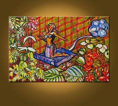 SALE  Magic Carpet Fairy  20 x 30 inch Original by ElizabethGraf, $199.00