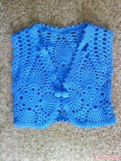 Crochet Thread Patterns, Crochet Applique Patterns Free, Baby Knitting Patterns, Crochet Summer Tops, Knit Crochet, Bolero Pattern, Crochet Baby Clothes, Crochet Jacket, Embroidery Fashion