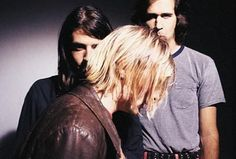 Dave Grohl, Krist Novoselic and Kurt Cobain.