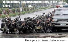 If call of duty players where actually in the Army