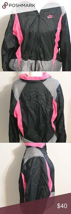 Details zu Vintage Nike Gray Tag Reflective Strip Vented Men's Large Windbreaker Jacket