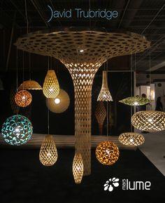Luminária Pendente  - David trubridge - Mais Lume maislume@gmail.com www.maislume.com
