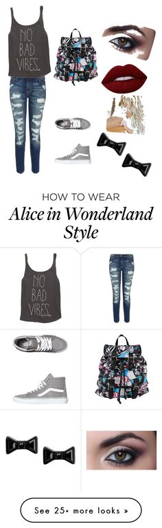 """No Nad Vibes"" by rturtle27 on Polyvore featuring Current/Elliott, Billabong, Vans, Disney, Lime Crime and Marc by Marc Jacobs"