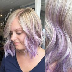 blonde+hair+with+lavender+ombre+highlights