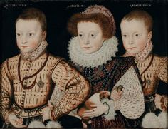 Late 16th Century children. The painting is claimed to contain the first depiction of a Guinea Pig.