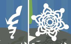 Virtual snowflake cutting