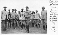 Campaña de 1909 el general Marina y sus oficiales 1909