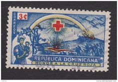 1944 Dominican Republic Red Cross Nurse postage stamp