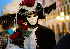 Carnival mask with roses