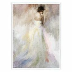 """Gallery-wrapped canvas wall art with a posing woman motif.   Product: Canvas artConstruction Material: Canvas, MDF and polystyrene Color: Multi Dimensions: 34"""" x 26"""""""