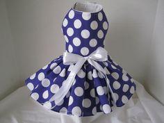 Dog Dress  XS Purple with White Polkadots   by NinasCoutureCloset, $30.00