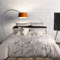 Love this Home Republic Manhattan Transfer Collection from Quilts Etc.   Items Available: Duvet Cover, Pillow Sham, Euro Sham, Square Cushion Cover, and Boudoir Pillow Cover.