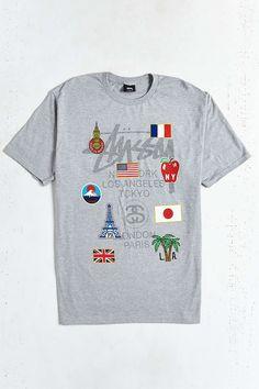 Stussy World Tour Flags Tee