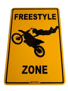 Free Style Motocross Sign
