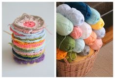 crochet blanket by cafe noHut, via Flickr    Great colours