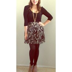 "Zebra Print Skirt Black and White Zebra Print Pleated Skirt. Size small. Has side zipper and clasp. Skirt only and model height is 5'4"". BB Dakota Skirts"