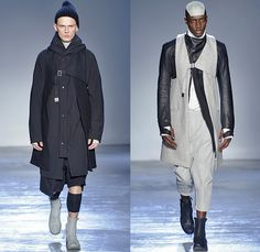 Boris Bidjan Saberi Barcelona Spain 2015-2016 Fall Autumn Winter Mens Runway Catwalk Looks - Mode à Paris Fashion Week Mode Masculine France - Military Outdoor Fisherman Onesie Jumpsuit Salopette Coveralls Bib Brace Dungarees Romper Outerwear Coat Straps Harness Knit Parka Gloves Boots Vest Waistcoat Capri Cropped Pants Backpack Blazer Shorts Leather Aviator Cap Jacket Stripes Wool Leggings