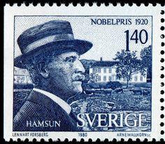 Timbre suédois commémorant Knut Hamsun et son Prix Nobel Prix Nobel, Nobel Prize In Literature, Nobel Prize Winners, You've Got Mail, Chat Board, Stamp Collecting, Postage Stamps, Famous People, Writer