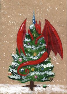 #Happynewyear #halloween #dragon #christmastree #tonedpaper #snow