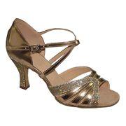 "Stardust X Strap Salsa Dance Shoes 2.5"" heel"
