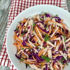 This Jicama Salad is light, crunchy and tangy with its Lime Dressing and a perfect salad to serve with fish or chicken.