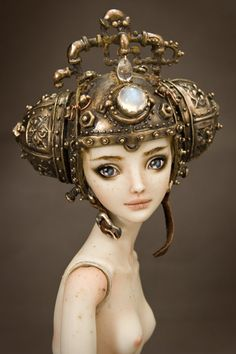 Artificial Intelligence - Enchanted Doll by Marina Bychkova-Marina Bychkova is a Russian-Canadian figurative artist and a founder of Enchanted Doll™- a luxury toy label of exquisite, porcelain dolls