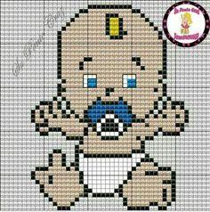 Bebé Baby Cross Stitch Patterns, Cat Cross Stitches, Needlepoint Stitches, Cross Stitch Baby, Cross Patterns, Loom Patterns, Cross Stitch Charts, Cross Stitch Designs, Knitting Charts