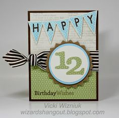 Happy Birthday Wishes - boy.  by Vicki Wizniuk, CTMH Independent Consultant