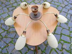 Vintage Kronleuchter - Mid century Tütenlampe zum Nierentisch - ein Designerstück von artdecoundso bei DaWanda