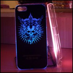 My LED Flash #Cool Dark #Skull Case for iPhone 5/5s - Fashion9shop.com