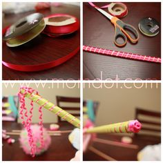 Tulle Wand Tutorial DIY Craft Inspiration for Halloween and Costumes | Momdot.com Crafting