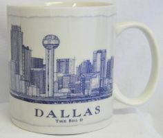 #Starbucks #Coffee Mug Dallas Architectural Series Collector Cup 2007 18 oz