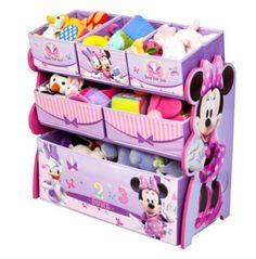 Minnie Mouse Toy Organizer Storage Multi Bin Children Room Furniture Box Cubby #Disney